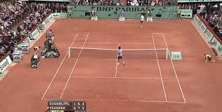 an alternating pattern across the four major center courts anyone else find this fascinating and are there more patterns like this in the sport imo a