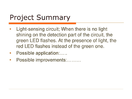 Detection Of Light Light Detection Circuit Ppt Download
