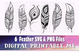 Find & download free graphic resources for svg. Feather Illustration Svg Bundle 6 Silho Graphic By Digitalprintableme Creative Fabrica