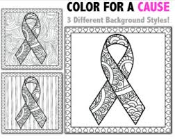 Small Picture cancer ribbon coloring sheet