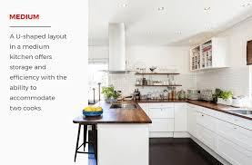medium u shaped kitchen