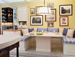 country breakfast nook ideas with yellow wall paint breakfast nook lighting ideas