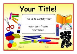 School Certificates Template Printable Starting School Certificates For Early Years