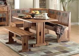 oak kitchen table set rustic high top corner wood sets with bench seat and throughout dinette