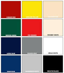 Easypoxy Color Chart System 3 Polyurethane Topcoat
