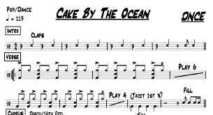 Drum Charts Cake By The Ocean Dnce Drum Chart Quickgigcharts