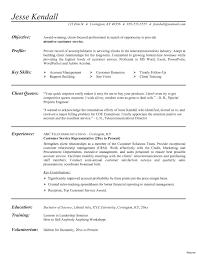 Entry Level Customer Service Representative Resume Entry Level