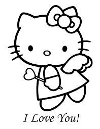 These free valentine's day coloring pages will give you a way to keep the kids busy and happy while the weather is still cold and snowy outside. Hello Kitty Valentine Coloring Pages Coloring Home