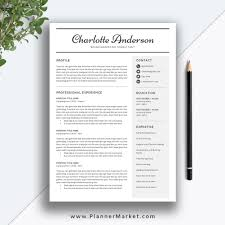 Unique Resume Template 3 Page Cv Template Word Professional Modern Resume Cover Letter Instant Download The Charlotte Resume