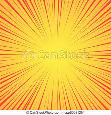 Radial Red Radial Red Lines On A Yellow Background Comic Book Speed Explosion