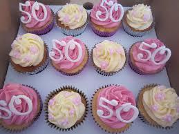 Cupcakeaholic 50th Birthday Cupcakes