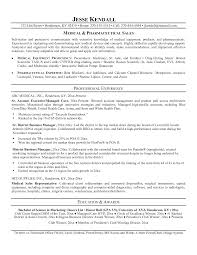 Medical Sales Resume Examples Of Resumes Objective Sample For