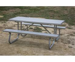 aluminum picnic tables. Picture Of 12 Ft. Rectangular Aluminum Picnic Table - 1 5/8\ Tables
