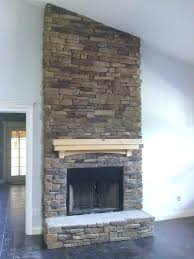 stone fireplace veneer panels refacing a with dry stack stone veneer fireplace diy stone