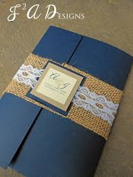 80 best invitations stationery images on pinterest wedding Ghetto Wedding Invitations burlap & lace pocketold wedding invitation navy blue brown kraft paper Worst Wedding Invitations