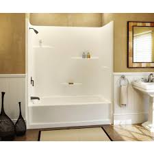 bathtub and wall one piece design inspirations 7 chic 1 piece tub