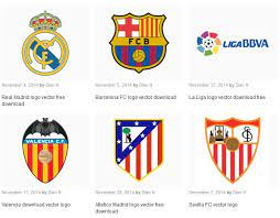 Search and find fonts used by world brands in their logo. La Liga Team Logos Vector All Free Spanish La Liga Team Logos Vector