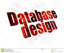 Database Design And Programming Programming Concept Database Design On Digital Background