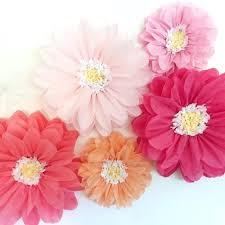 Pink Paper Flower Decorations Tissue Paper Flower Wall Covermyride