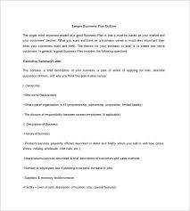 Business Plan Outline Template 19 Free Word Excel Pdf