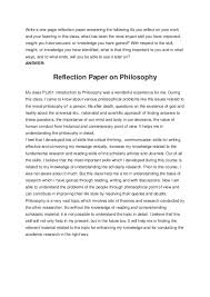 Does a reflection paper need a title? Write A One Page Reflection Paper Answering The Following As You Reflect On Your Work And Your Learning In This Class What Has Been The Most Impart Skill You Have Improved 30