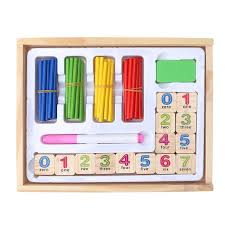 Wooden Math Games Montessori Wooden Number Math Game Sticks Toy Baby Wooden 76