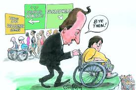 Image result for disabled in Britain CARTOON
