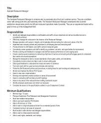 Sample Resume In Pdf Restaurant Manager Resume Template 6 Free Word ...