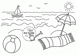 Small Picture Small Boat and Beach coloring page for kids seasons coloring