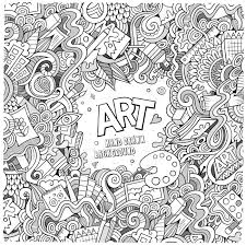 Art Doodle Cartoon Vector Doodles Hand Drawn Art And Craft Frame Background