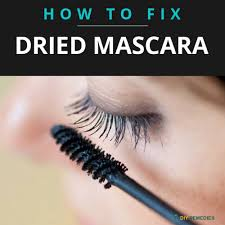 firstly wipe the clumps off your mascara brush it gives a new life to the mascara put a few drops of eye drops in the and pump and shake it well