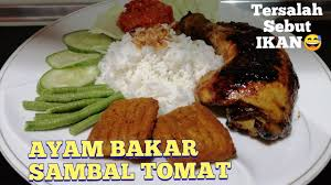 In java, the chicken is usually marinated with the mixture of kecap manis (sweet soy sauce) and coconut oil, applied with a brush during grilling. Ayam Bakar Sambal Tomat Yang Simple Mudah Dan Enak Bude Manis Youtube