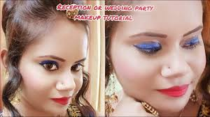 reception and wedding party makeup tutorial college aditi