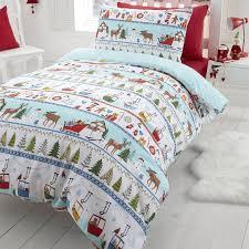 duvet cover sets snowman santa reindeer emoji