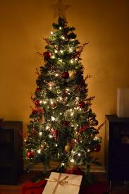 Christmas Design Featuring A Small Christmas Tree With Shiny Christmas Trees Small