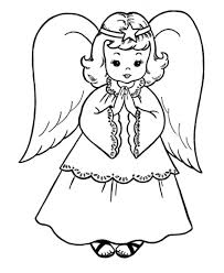 Small Picture Coloring Pages Free Christmas Coloring Pages Retro Angels The