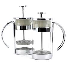 french press coffee cold small coffee and tea maker cup glass 10oz pack of 2
