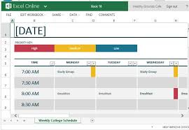 excel templates scheduling how to easily create class schedules using excel