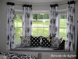 nice design ideas hanging curtains on bay windows ideas