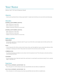 Most Common Resume Format Common Resume Format