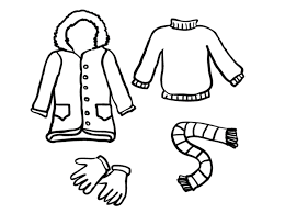 Small Picture Free Coloring Pages Winter Clothes Winter Coloring pages of