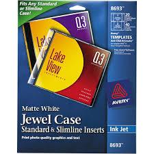 Avery Labels Dvd Avery Inkjet Cd Dvd Jewel Case Insert 20 Pk Labels Label Makers