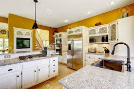 House Interior Colors yellow kitchens with white cabinets affordable kitchen light grey 7620 by uwakikaiketsu.us