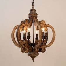 distressed wood chandelier style with distressed wood and metal chandelier