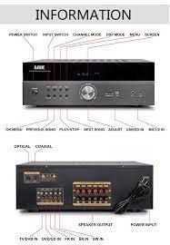 Laix Av-808 5.1 Amplificador Hifi Ampli 5.1amplifier Placa Profesional  Guitarra De Audio Som Sonido Barra Equipo Consola Coche Y - Buy 180 500amp  Mccb 400amp Camlock 630amp 3 2 Transistor Ohms 4