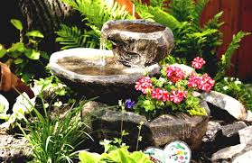 flower gardens pictures. Beautiful Flower Garden With Fountain Gardens Pictures