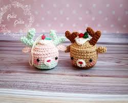 Crochet Cupcake Pattern Delectable Christmas Deer Cupcake Pattern Amigurumi Today