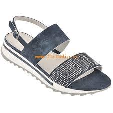 Dámské Boty Sandály Maripé 22454 Tmavě Modré Nehty Skvělé Ceny