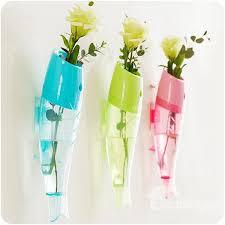 unique fish design 3 color plastic wall flower vase