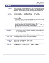 Business Business Analysts Resume